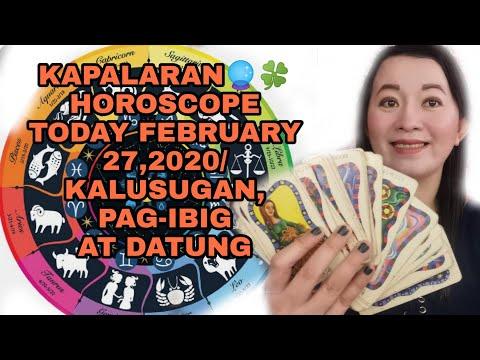 KAPALARAN 🔮🍀HOROSCOPE TODAY FEBRUARY 27,2020/KALUSUGAN, PAG-IBIG AT DATUNG-APPLE PAGUIO7