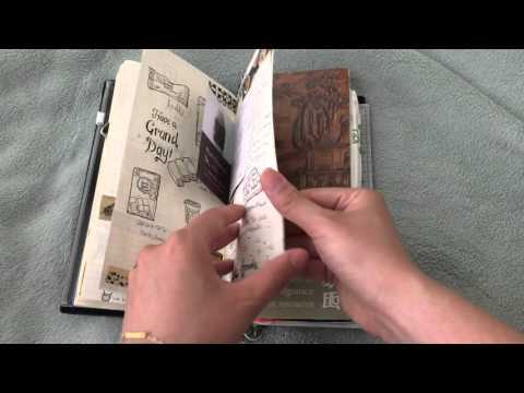 Flip through Midori Traveler's Notebook Art Journal