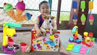 Trò Chơi Bé Ken Làm Kem Màu Playdoh ❤ChiChi ToysReview TV❤ Đồ Chơi Trẻ Em Baby Doli Bài Hát Vần Thơ