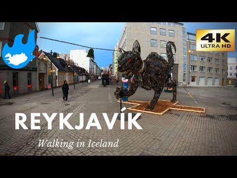 Iceland Walking Tour - Reykjavík [4K]