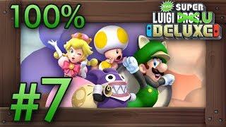 New Super Luigi U Deluxe: 100% Co-Op Walkthrough World 7 - Meringue Clouds (All Star Coins)