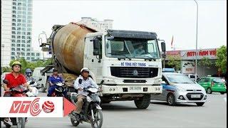 Xe trộn bê tông chạy loạn tại Hà Nội |  VTC