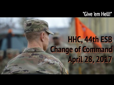 HHC, 44th ESB Change of Command