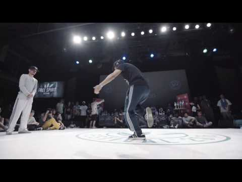 Arejay vs Gucchon - 1 vs 1 Popping 1/2 Final - Free Spirit Championship 2016