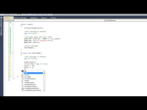 Create a simple snake game with C#
