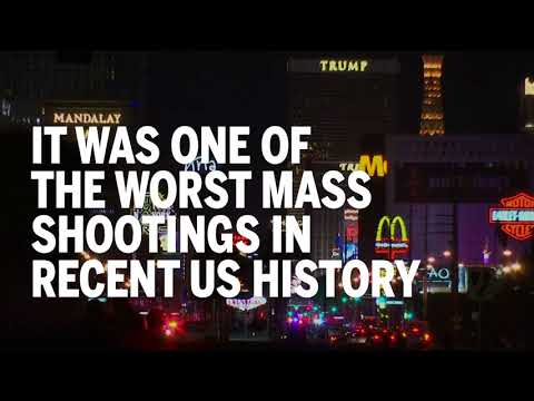 The moment a gunman opened fire on a Las Vegas country concert