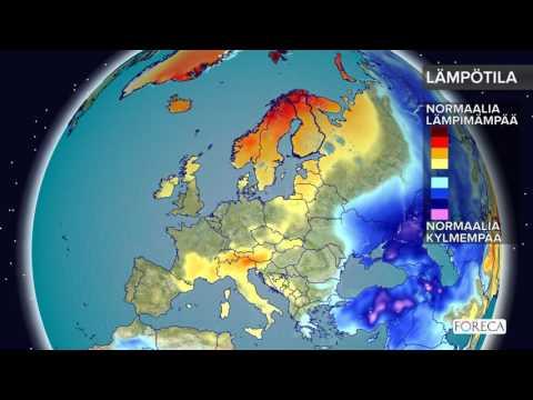 Kuukausiennuste lämpötiloista 13.12.2016: Sää lauhtuu jouluviikolla
