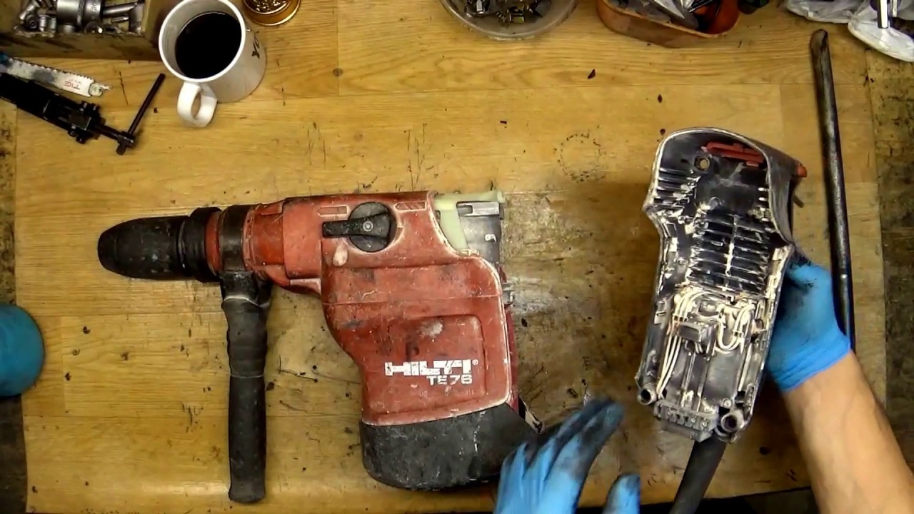 hilti te76 disassemble and diagnostic repair cost about 160 euros  [ 1280 x 720 Pixel ]
