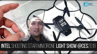 Intel Shooting Star Mini Drone Light Show - CES 2018