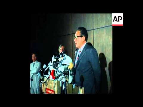 SYND 16 9 76 KISSINGER ARRIVES IN TANZANIA FOR TALKS WITH PRESIDENT NYERERE