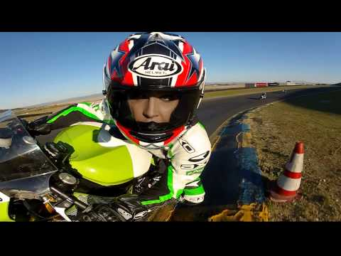 GoPro HD:  AMA Pro Road Racing - Shelina Moreda Test Ride