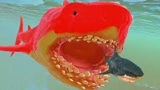 НОВЫЙ СЕКРЕТНЫЙ МЕГАЛОДОН, КРАСНЫЙ МЕГАЛОДОН | Feed and Grow Fish