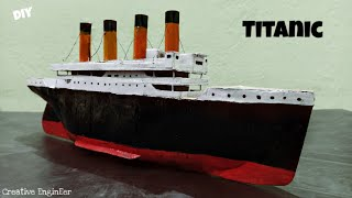 How to make TITANIC with paper and cardboard  DIY Titanic ship