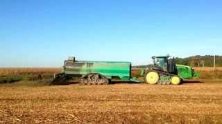 John Deere 8370 rt with manure tank on Soucy tracks.