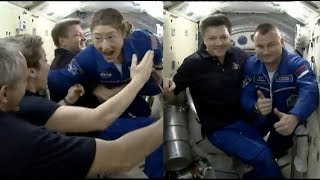 Soyuz MS-12 hatch opening