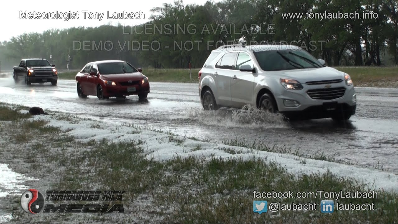 Severe thunderstorms batter Houston, southeastern Texas with baseball-sized hail and flooding rainfall