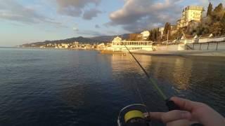 Рыбалка в Массандре (Ялта) с берега в апреле 2017