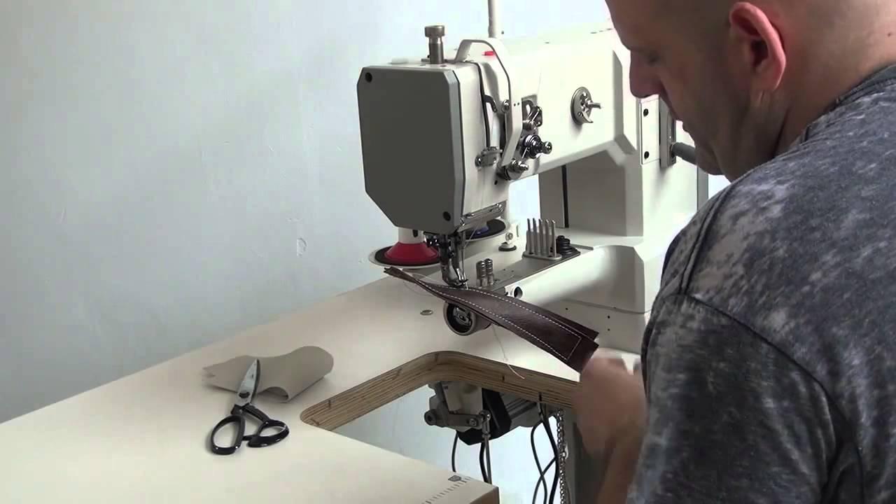 Maquina de coser cuero triple arrastre brazo libre para