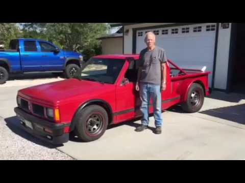 1991 Chevy S10 pick up with rear engine Cadillac V8 500