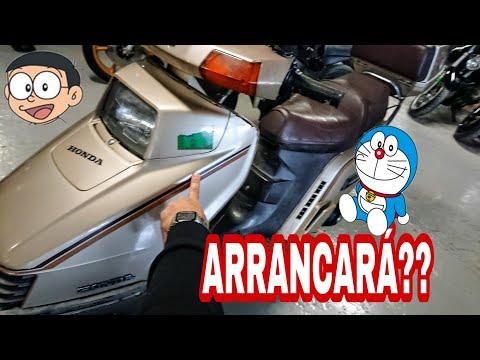 Arrancamos Moto 🤖 Doraemon parada hace años. Honda 250 elite freeway spacy