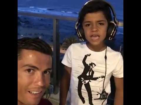Cristiano Ronaldo's Son Singing Song