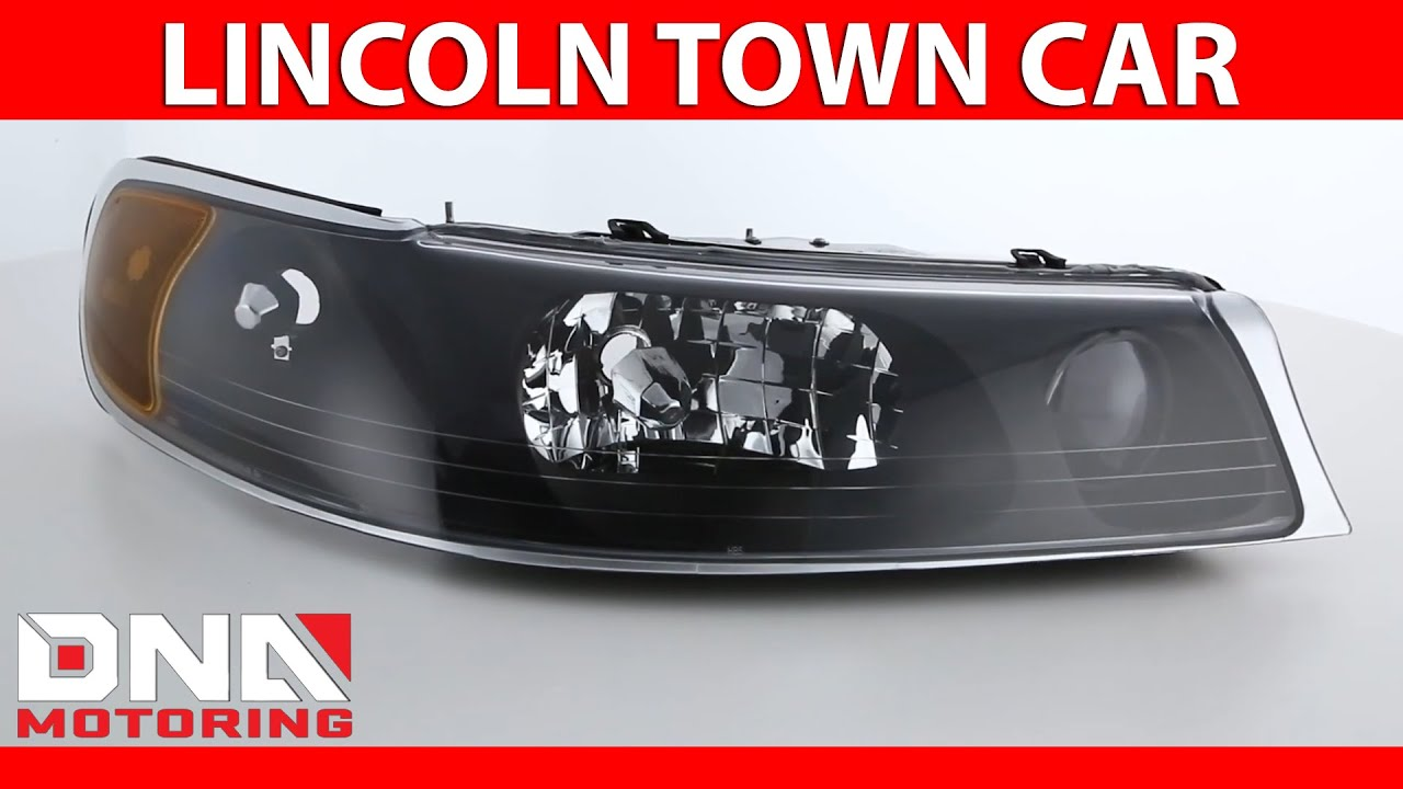 DNA Motoring HL-OH-060-CH-CL1 Chrome Housing Headlights Lamp For 98-02 Lincoln Town Car