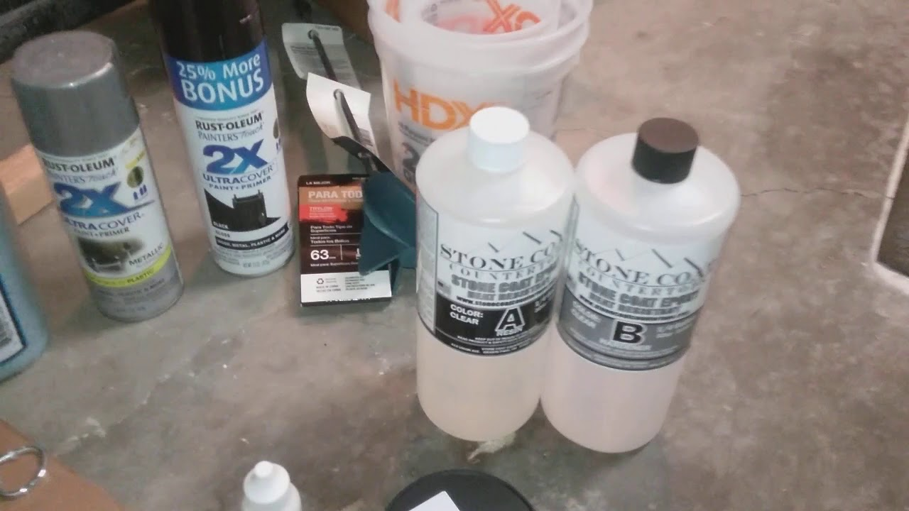 First time DIY Stone Coat Countertops Part 1 Epoxy Sample Kit