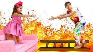 The Floor is Lava with Artem and Mia