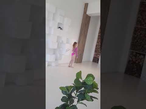 """Купальник для художественной гимнастики """"Розовая пантера"""". Backstage 2018"""