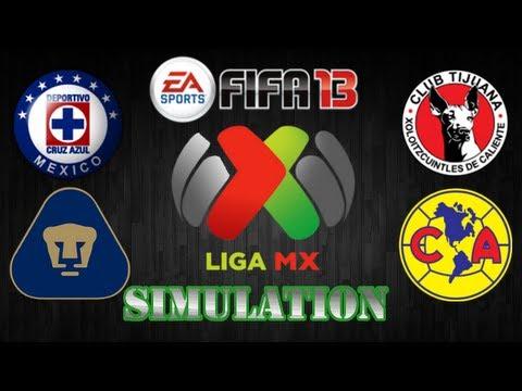 FIFA 13 | Cruz Azul vs. Pumas - Tijuana vs. America | J6 Simulations