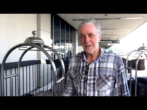 Basketball Legend Pat Riley Jokes With Fans At LAX