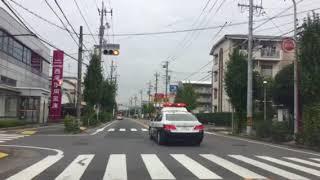 半田警察署   緊急走行  パトカー&白バイ4台(サ)  激レア