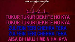 Sample Video Karaoke Tukur Tukur Dekhte Ho With Male Vocals | Masoom | Kumar Sanu | Poornima