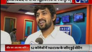 All about EVM controversy in DUSU elections: Election winners 2018 live on India News