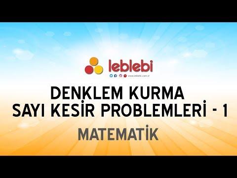 MATEMATİK / DENKLEM KURMA SAYI KESİR PROBLEMLERİ - 1