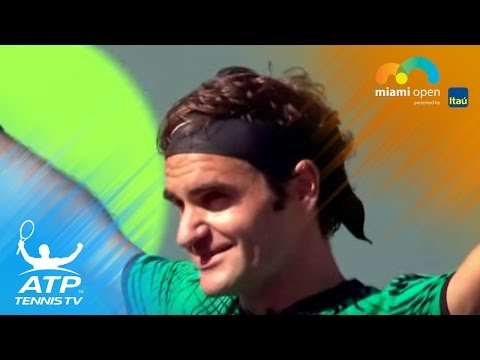 Roger Federer beats Juan Martin del Potro | Miami Open 2017 Day 6