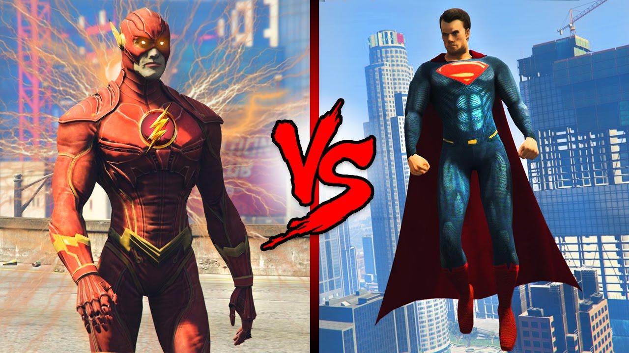 THE FLASH vs SUPERMAN! - YouTube