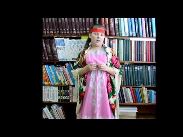 Изображение предпросмотра прочтения – МарияМантрова читает отрывок изпроизведения «Мороз, Красный нос» Н.А.Некрасова