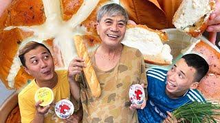 Lão Thái Gia Làm Bánh Mì Bơ Tỏi Siêu To Khổng Lồ - Thạc Đức TV