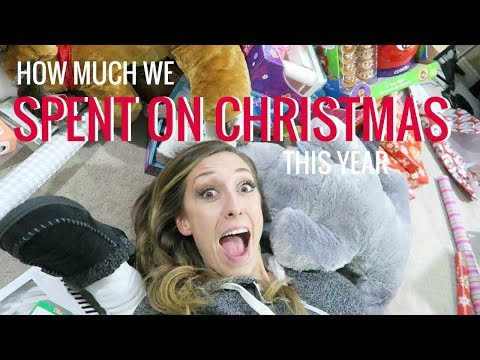 How much we spent on Christmas gifts this year!