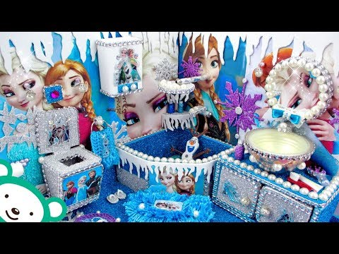 DIY Miniature Frozen 2 Bathroom - Miniature Dollhouse