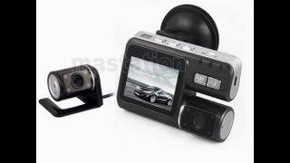 Видеорегистратор. HD 720P X2 Dual Lens DVR G-sensor. Unboxing