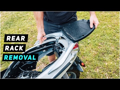2013+ piaggio fly 150 - rear end removal #3: rear rack - youtube