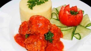 ТЕФТЕЛИ  с Рисом в Томатном Соусе ♥ Вкус Детства ♥ Рецепты NK cooking