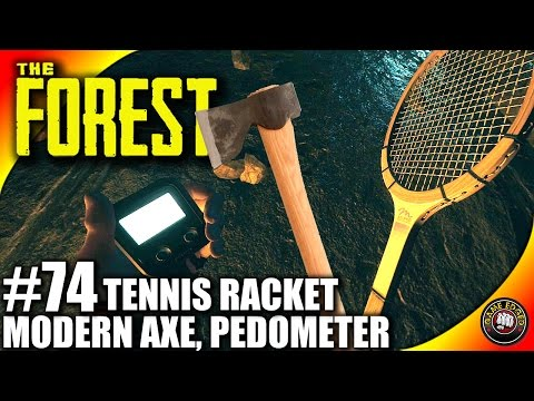 The Forest Gameplay - Tennis Racket, Pedometer, Modern Axe - Let's Play S16EP74 (Alpha V0.40)