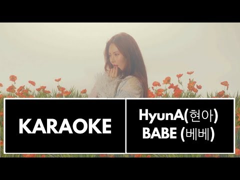 HyunA(현아) - '베베' (BABE) - KARAOKE/INSTRUMENTAL (With BG Vocals)