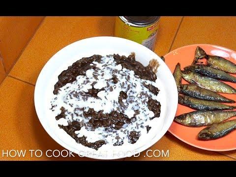 🔵 Champorado - Chocolate Rice - Filipino Champorado - Pinoy Rice Pudding - Tsampurado - Tagalog