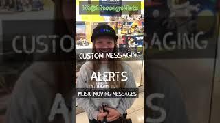 Led message hats