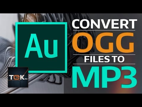 How to Convert OGG to MP3 - Adobe Audition CC