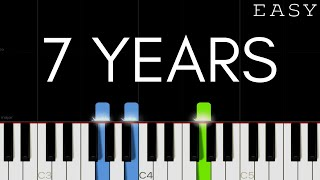 Lukas Graham - 7 Years   EASY Piano Tutorial